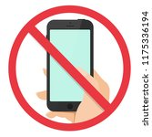 no cell phone sign flat design...   Shutterstock .eps vector #1175336194