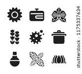 flora icon. 9 flora vector...   Shutterstock .eps vector #1175337634