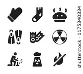warm icon. 9 warm vector icons...   Shutterstock .eps vector #1175340334
