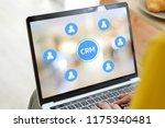 woman using laptop computer... | Shutterstock . vector #1175340481