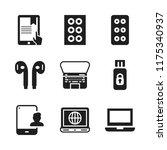 portable icon. 9 portable... | Shutterstock .eps vector #1175340937