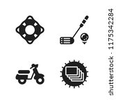 leisure icon. 4 leisure vector... | Shutterstock .eps vector #1175342284