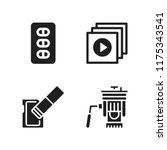 portable icon. 4 portable...   Shutterstock .eps vector #1175343541