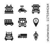 highway icon. 9 highway vector... | Shutterstock .eps vector #1175344264
