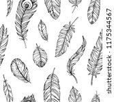 hand drawn seamless pattern... | Shutterstock .eps vector #1175344567