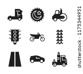 highway icon. 9 highway vector... | Shutterstock .eps vector #1175344951