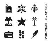 flora icon. 9 flora vector...   Shutterstock .eps vector #1175346811