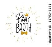 photo booth lettering. design... | Shutterstock .eps vector #1175348131