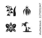 flora icon. 4 flora vector...   Shutterstock .eps vector #1175351347