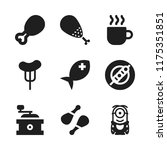 roasted icon. 9 roasted vector... | Shutterstock .eps vector #1175351851