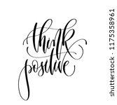 think positive   hand lettering ... | Shutterstock .eps vector #1175358961