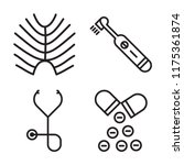 set of 4 vector icons such as x ...