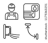 set of 4 vector icons such as... | Shutterstock .eps vector #1175363251