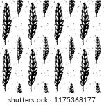 wheat seamless pattern with... | Shutterstock .eps vector #1175368177