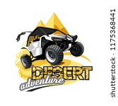 off road atv buggy logo  desert ... | Shutterstock .eps vector #1175368441