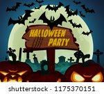 halloween theme with lit... | Shutterstock .eps vector #1175370151