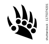 grizzly bear claw vector... | Shutterstock .eps vector #1175374201