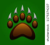 grizzly bear claw vector... | Shutterstock .eps vector #1175374237
