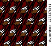 grizzly bear claw vector... | Shutterstock .eps vector #1175376961
