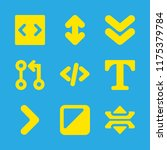9 arrows icons with contrast...   Shutterstock .eps vector #1175379784