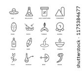 set of 16 simple line icons... | Shutterstock .eps vector #1175384677