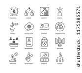 set of 16 simple line icons... | Shutterstock .eps vector #1175385571