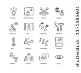 set of 16 simple line icons... | Shutterstock .eps vector #1175385601