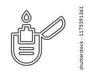 lighter icon vector isolated on ... | Shutterstock .eps vector #1175391361