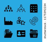 9 company icons with factory... | Shutterstock .eps vector #1175392234
