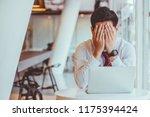 businessmen feel stressed and... | Shutterstock . vector #1175394424