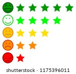 rating by emoticons   for stock | Shutterstock .eps vector #1175396011