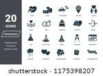 honeymoon icons set. premium... | Shutterstock .eps vector #1175398207