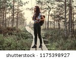 full body portrait of a tourist ... | Shutterstock . vector #1175398927