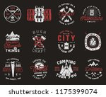 travel badges set. camping... | Shutterstock .eps vector #1175399074