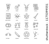 set of 16 simple line icons... | Shutterstock .eps vector #1175399551