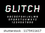 glitch distorted font retro... | Shutterstock .eps vector #1175411617