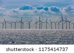 Windmills in the sea. wind...