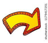 cartoon doodle lit up sign | Shutterstock .eps vector #1175417251