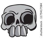 skull cartoon illustration...   Shutterstock .eps vector #1175417584