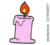 cartoon doodle lit candle | Shutterstock .eps vector #1175420077