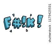 cartoon doodle swear word   Shutterstock .eps vector #1175425531