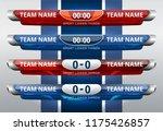 scoreboard broadcast graphic... | Shutterstock .eps vector #1175426857