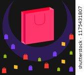 shopping autumn sale paper... | Shutterstock .eps vector #1175431807