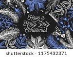 vector hand drawn coniferous... | Shutterstock .eps vector #1175432371