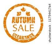 autumn sale clearance rubber... | Shutterstock .eps vector #1175441764