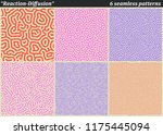 set of diffusion reaction... | Shutterstock .eps vector #1175445094