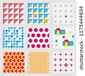abstract modern pattern with... | Shutterstock .eps vector #1175449834