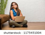 portrait of young latin woman...   Shutterstock . vector #1175451004