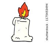 cartoon doodle lit candle | Shutterstock .eps vector #1175453494