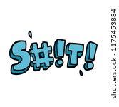 cartoon doodle swear word   Shutterstock .eps vector #1175453884